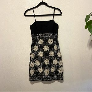 Sue Wong Nocturne Black and White Beaded Dress 4
